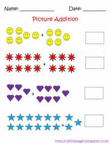 Abacus Nursery by Kids Page Picture Addition Math Worksheets