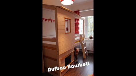 Hausbett Bauen by Aufbau Hausbett I Hochbett I Familyvlog