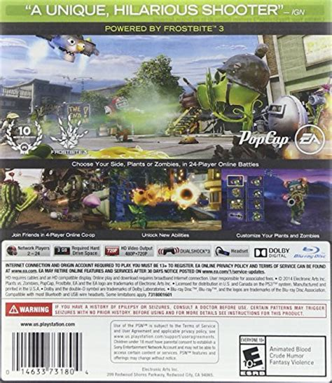 Bd Ps4 Plants Vs Zombies New Reg 3 plants vs zombies garden warfare ps3 digital code
