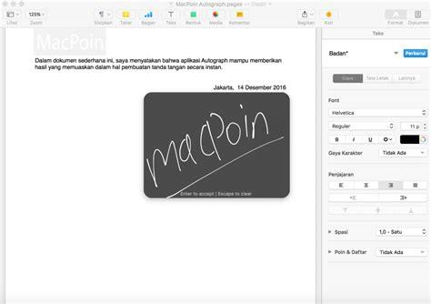membuat tanda tangan digital gratis cara membuat tanda tangan di mac dengan autograph macpoin