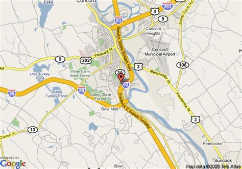 concord nh map map of days inn concord nh concord