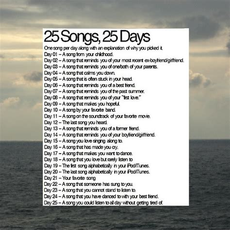 25 songs in 25 days petitemagique 8tracks radio 25 songs 25 days challenge 25 songs