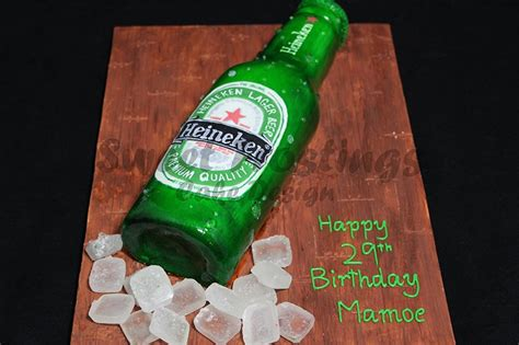 heineken beer cake birthday cakes sweet frostings cake design