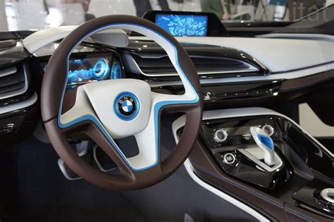 photos bmw unveils i3 electric car and i8 hybrid electric