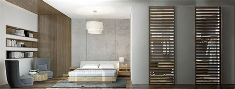 20 Beautiful Exles Of Bedrooms With Attached Wardrobes Slatted Closet Doors