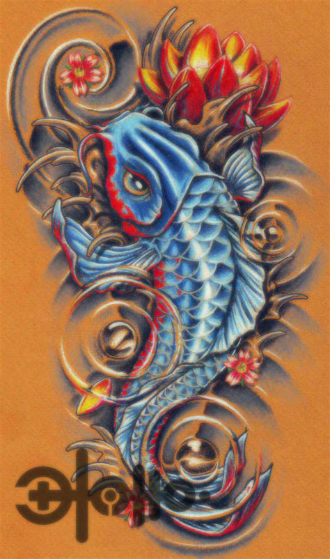 koi fish and lotus tattoo designs tatto koi fish