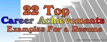 22 top resume achievements exles of achievements in resumes