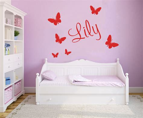 personalised name butterfly wall custom vinyl