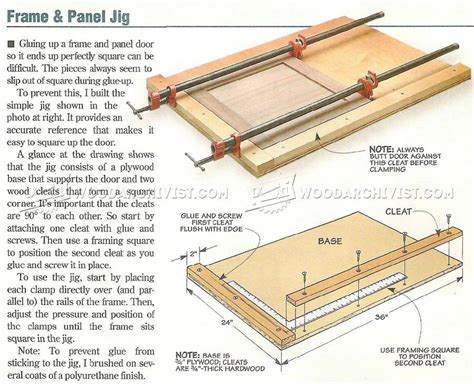 Cabinet Door Construction Frame And Panel Cling Jig Woodarchivist
