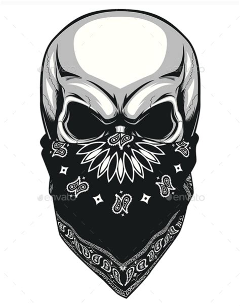 bandana tattoo design skull with bandana drawing 40 best designs