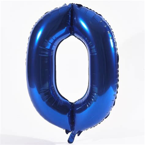 Blue number 0 foil giant helium balloon card factory