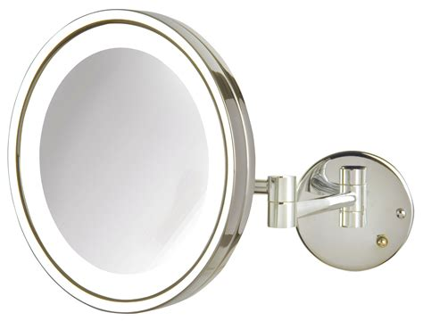 jerdon lighted magnifying mirror jerdon 5x magnification led lighted wall mounted makeup