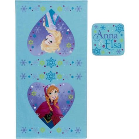 disney set elsa frozen tokoonecom disney frozen elsa and anna 2 piece towel set walmart com