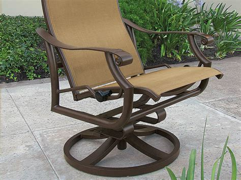 tropitone patio chairs montreux urcomfort sling patio furniture tropitone