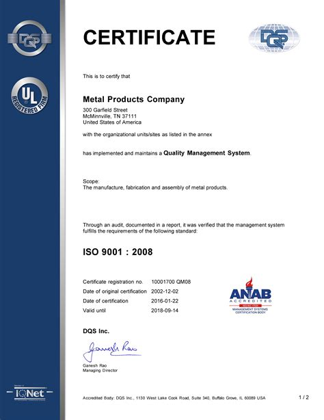 quality assurance certificate template 19 quality assurance certificate template microsoft