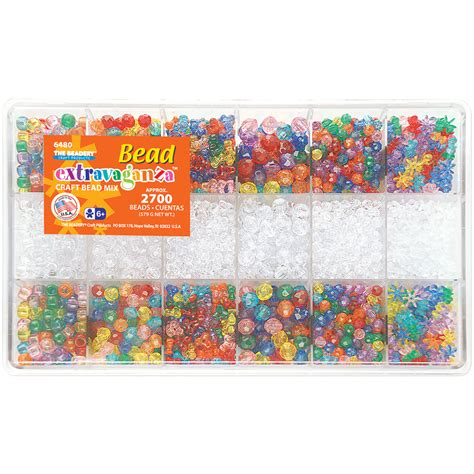 beadery bead extravaganza bead box kit 20 4oz pkg