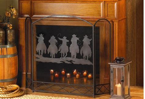 state of texas home decor texas style cowboys horses home decor fireplace screen
