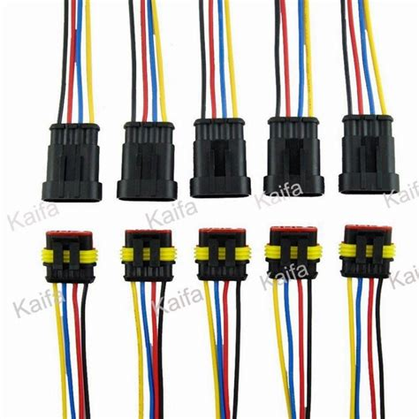 xs0034 2 pin 50 sets car waterproof electrical connector