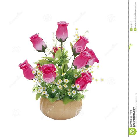 Vase Of Pink Roses by Vase Of Pink Roses Royalty Free Stock Photography Image