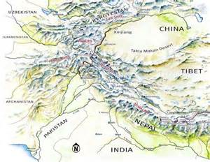 mountains map hindu kush mountains afghanistan map
