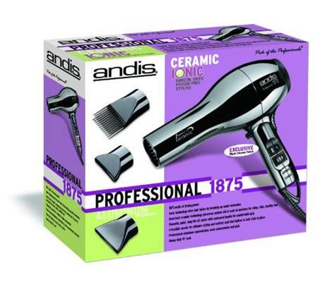 Andis Hair Dryer Bag andis professional 1875 watt ceramic ionic hair dryer black chrome 82005 health