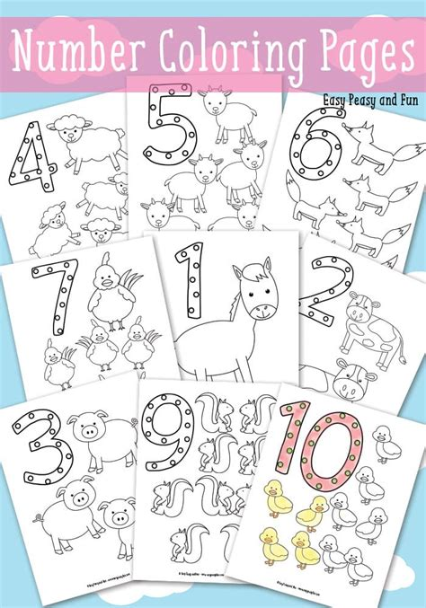 easy peasy coloring pages animals number coloring pages easy peasy and fun