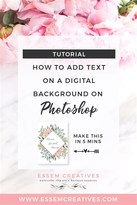 how to add background in photoshop how to add text on a digital background on photoshop