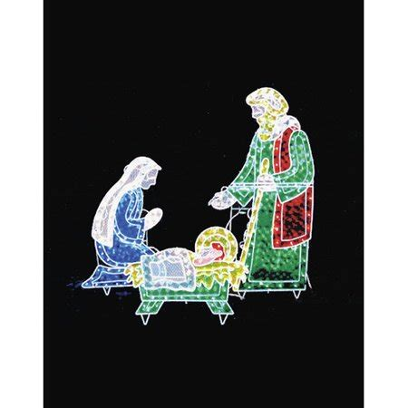 3 pc holographic lighted christmas outdoor nativity scene set 3 holographic lighted nativity set outdoor decoration 42 quot walmart