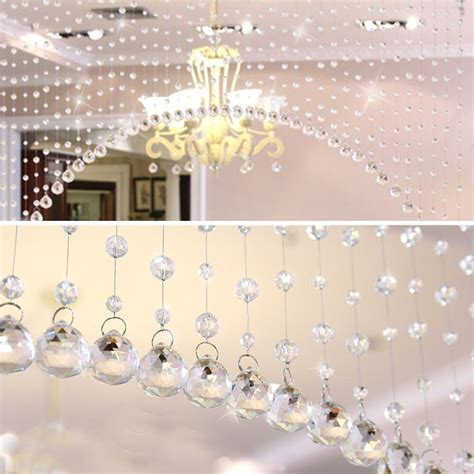 1M Luxury Glass Crystal Bead Curtain Living Room Bedroom