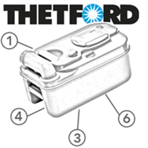 Thetford Toilet Exploded View by Caravansplus 23721 Cassette Lip Seal Suit Thetford