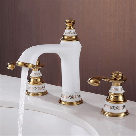 free shipping white gold 8 quot widespread lavatory bathroom