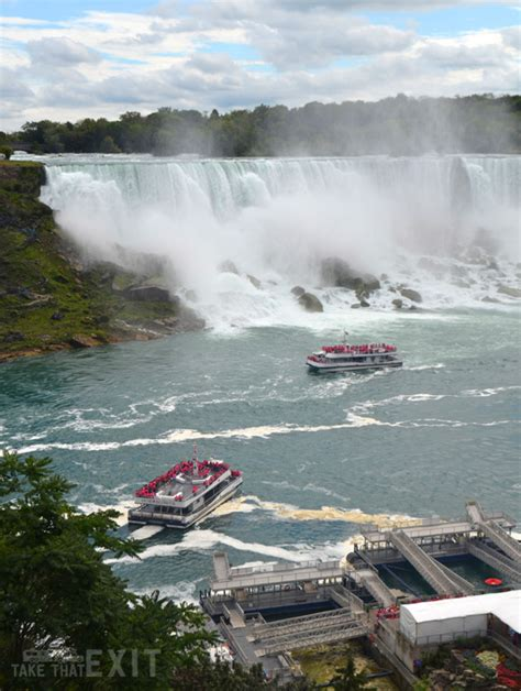 niagara falls boat tour maid of the mist canada niagara falls the maid of the mist boat tour and we walk