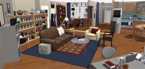 big theory wohnung the big theory wohnung in 3d homebyme