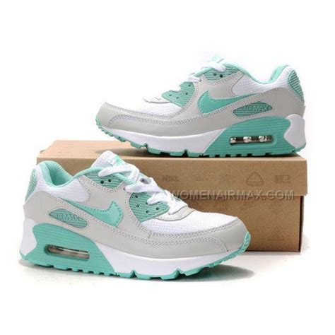 nike air max  womens shoes wholesale white gray green