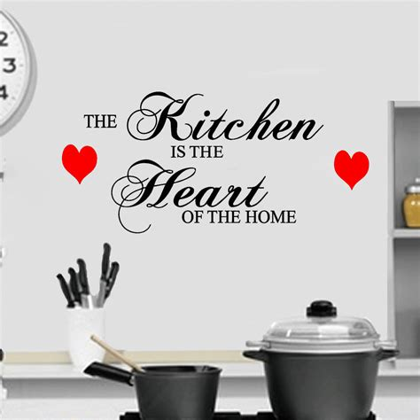 the kitchen is the heart of the home the kitchen is the heart of the home wall quote vinyl