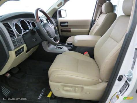 sand beige interior 2012 toyota sequoia platinum 4wd photo