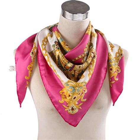 square silk head scarf women large head scarves silk square scarf shawl classical