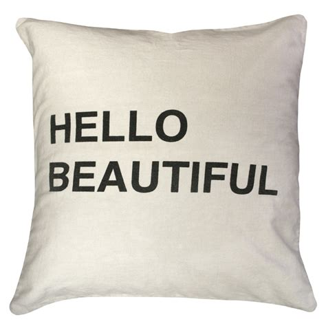 Hello Beautiful Pillow hello beautiful throw pillow by sugarboo designs