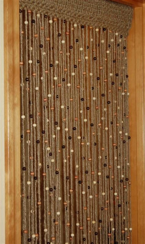 Diy Beaded Door Curtains Jute And Curtains On