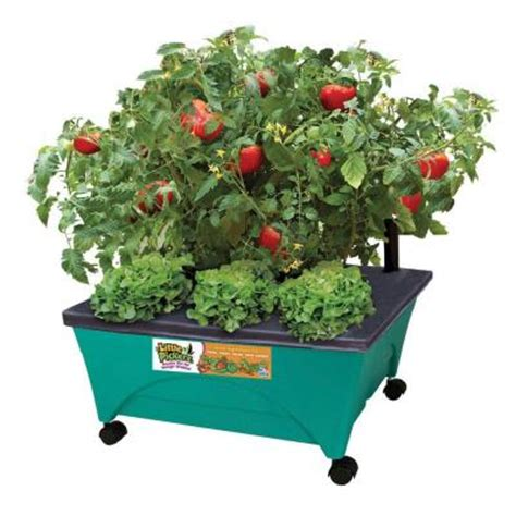 city pickers patio garden emsco pickers 24 1 2 in x 20 1 8 in patio garden kit with watering system and casters