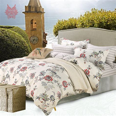 cotton comforter set 100 cotton bedding sets bedding sheet type 4pcs set sp2729