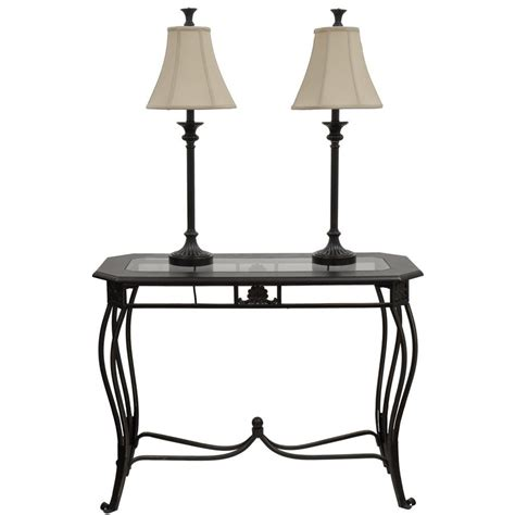 lowes sofa table style selections classical bronze sofa table set with two