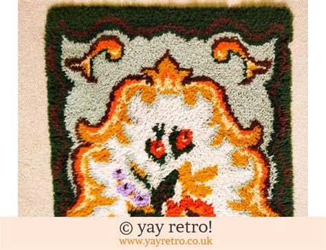 Orange Flower Rug by Large Vintage Orange Flower Rug Vintage Shop Retro