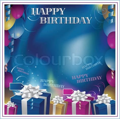 Home Decor For Christmas Holidays Happy Birthday Frame Background Vector Colourbox