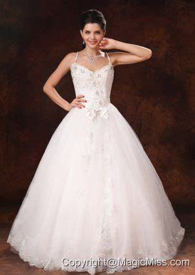 cheap haircuts st catharines spaghetti straps beaded bowknot customize wedding dress