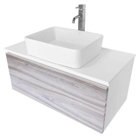 bathroom vanity bunnings cibo design 900mm cafe oak glee vanity with white basin
