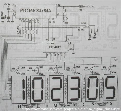clock circuit diagram logic diagram of a 12 hour digital clock the wiring