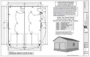 free garage construction plan house design g433 30 x 30 12 detached garage with bonus truss