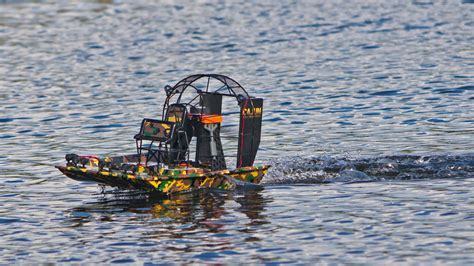 airboat pushes truck hobby rc testing the aquacraft cajun commander tested
