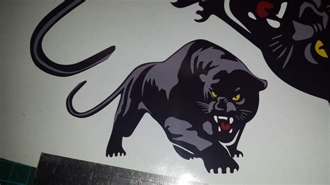 Stiker Black Panther Sticker Mobil 3x scomadi panther decals stickers 2 large 1 small custom printed vinyl